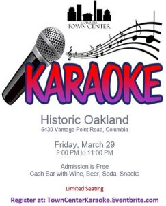 Town Center Karaoke Night @ Historic Oakland
